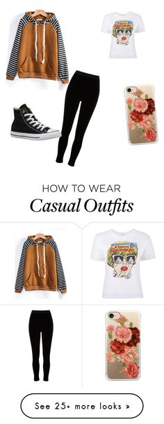 """""""Casually Comfy"""" by popfuzz on Polyvore featuring River Island, Converse and Casetify"""