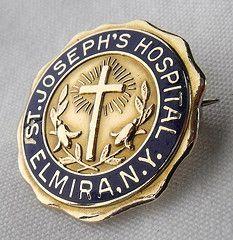 St. Joseph's Hospital School of Nursing Graduation Pin 1950 - Elmira, N.Y.