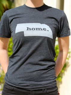The #Nebraska Home T. A portion of profits are donated to #mutliplesclerosis research. Get one here, http://www.thehomet.com/nebraska-home-t-shirt.
