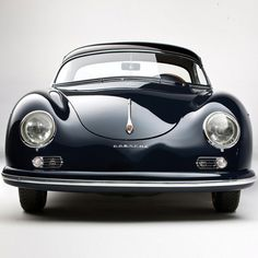 """1958 Porsche 1600 Speedster The 356 was created by Ferdinand """"Ferry"""" Porsche (son of Dr. Ferdinand Porsche, founder of the company). Like its cousin, the Volkswagen Beetle (which Ferdinand Porsche Senior had d Porsche Classic, Classic Cars, Black Porsche, Classic Auto, Luxury Sports Cars, Porsche Autos, Porsche Cars, Porsche 2017, Porsche 356 Speedster"""