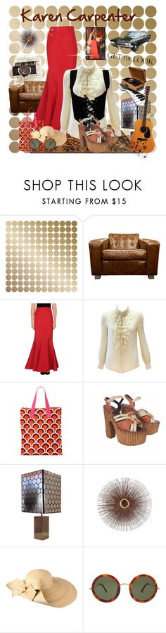 """""""KAREN CARPENTER -Get the Look"""" by pollyartist ❤ liked on Polyvore featuring Mila Schön, Malabar Bay, WALL, Helene Berman, The Row, KarenCarpenter and thecarpenters"""