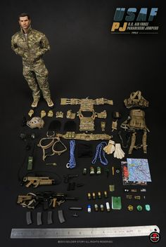 onesixthscalepictures: Soldier Story US Air Force Pararescue Jumpers / USAF PJ (TYPE C) : Latest product news for scale figures inch. Air Force Pararescue, Usaf Pararescue, Usaf Pj, Small Soldiers, Combat Armor, Military Action Figures, Military Modelling, Military Diorama, Army Men