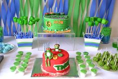Teenage Mutant Ninja Turtles Birthday Party Ideas | Treats Table