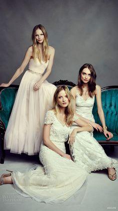 These beauties // Check out yesterdays launch of the new boho wedding dress collection from Just. by foreverbirdy Bohemian Wedding Dresses, Best Wedding Dresses, Boho Bride, Wedding Gowns, Bridesmaid Dresses, Bhldn Wedding, Foto Casual, Bohemian Mode, Boho Chic