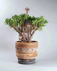 Essas mini casas de árvore feitas para pequenas plantas vão deixar você encantado
