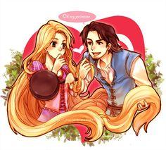 Tangled - Eugene and Punzie: rapunzel, flynn rider, disney, princess