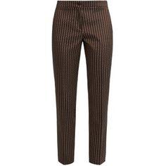 Etro Chevron-jacquard cropped trousers