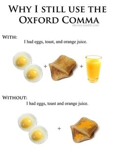Why I still use the Oxford comma.