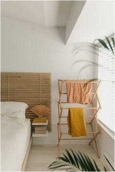 Minimal bedroom design with wooden headboard Bedroom Decor, Decor, Interior Inspo, Cheap Home Decor, Interior Design, House Interior, Home, Interior, Home Bedroom