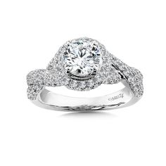 - Diamond Halo Engagement Ring in White Gold with Platinum Head ct. Classic Engagement Rings, Halo Diamond Engagement Ring, Nature Rose, 1920s, White Gold, Bling, Crossstitch, Jewelry, Cross Stitch