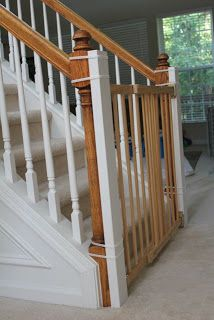 Beauty In The Ordinary Installing A Baby Gate Without Drilling Into Banister Tutorial