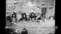 1970,#Dillingen,Hard #Rock,jimmy page,John Bonham,John Paul Jones,Led Zeppelin,Robert Plant,#Rock Musik,#Sound,vancouver Led Zeppelin Vancouver 1970 Press Conference 16mm Rare Film Clip - http://sound.saar.city/?p=14714