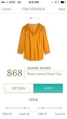 Love the color and detail on this top!!