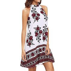 17be83cb622 Hotkey® Clearance Women Dresses On Sale Floral Printed Cocktail Party  Evening Mini Dress Beach Sundress for Summer at Amazon Women s Clothing  store