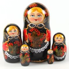 Rowanberry-Nesting-Doll-hand-painted-5pcs-wooden-5-9exclusive-gift-idea