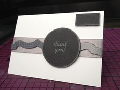 #DIY thank you card  To buy similar hand crafted cards visit https://www.etsy.com/shop/AlesiasCrafts