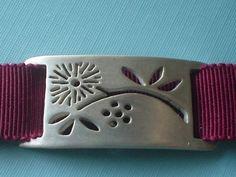 Sterling Silver Flowering Branch Bracelet or Choker - Cranberry