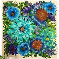 Que flores maravilhosas by  @leiladuly  #coloringbook #jardimsecreto #desenhoscolorir  #livrodecolorir #flowers #coloriage