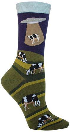 Alien Abduction Crazy Novelty Animal Socks for Women