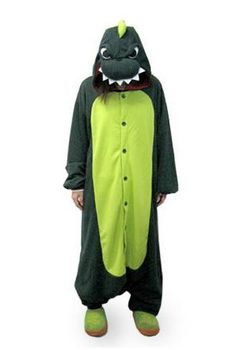 How cool are these are these animal onesies? :)Dinosaur Adult Onesie Pajamas