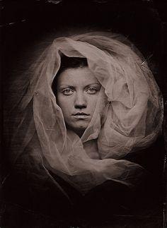 Pawei Smialek ..portrait ..wet plate collodian using homemade camera..