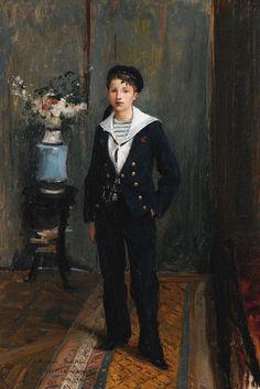 Jules Bastien-Lepage Portrait of a Young Boy, 1881 oil on canvas 62 x 40 cm