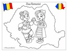 Romania coloring page Medan, Simple Christmas, Christmas Crafts, History Of Romania, Projects For Kids, Art Projects, Diy And Crafts, Crafts For Kids, Hello Summer