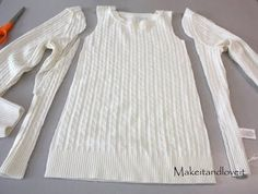 Make a girls' dress from an old sweater - dying to do this!