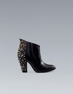 HIGH HEEL STUDDED ANKLE BOOT - ZARA Czech Republic