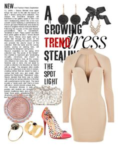 """Choker dress"" by katherineew ❤ liked on Polyvore featuring Rare London, Natasha, Astley Clarke, GUESS by Marciano, Christian Louboutin, Charlotte Russe and Marc by Marc Jacobs"