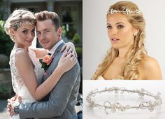 Former Miss England, Georgia Horsley, married Mcbusted front man Danny Jones in early August this year. To get Georgia's look, try one of our bridal circlets, a similar style to hers is shown here, our TR1646A.