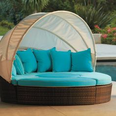 I just love this thing!!  Perfect Poolside - reminds me of CRUISE!!!  Bronze Baleares Daybed Frontgate
