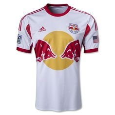 56e0b5a94ee 2013 Red Bulls Home White Soccer Jersey Shirt  33.99 soccer jersey Major  League Soccer