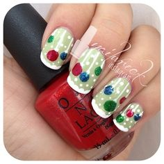 Xmas ornaments ' snow ??? this time!! - nailwreck @ Instagram Web Interface - 5th village......