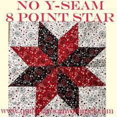 Learn how to make a no y-seam eight point star quilt block with this easy video tutorial.