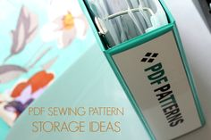 pdf sewing pattern storage ideas title photo
