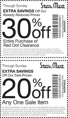 Pinned November 18th: Extra 20% off a single sale item & more at #Stein Mart, or online via promo code SHOPSALE #coupon via The #Coupons App