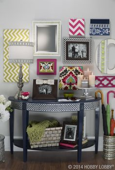 Our ornate metal ribbon has a lacy look that could lend itself to antique-inspired style. But what happens when you merge it with trendy colors, contemporary finishes and hip-happening prints? We call it joyfully modern décor!