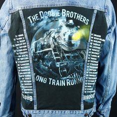 973befcebad39 The Doobie Brothers Levis Jean Jacket Blue Denim Trucker Concert Tour Large