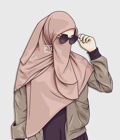 vector hijab niqab Hijab Cartoon, Islamic Cartoon, Hijab Quotes, Anime