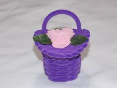Unique Jewelry Keepsake Gift Box Purple / Pink Flower Basket Velvet USA Seller  | eBay