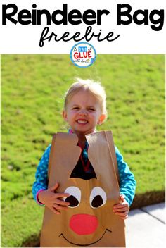 This Reindeer Bag is a fun way for your students to carry home all of their work home before Christmas break. A free template is included. Perfect for preschool, kindergarten, and first grade students.Try this reindeer bag Christmas craft in your elementary classroom this winter! Perfect winter craft for kids for the Christmas holiday.  via @dabofgluewilldo