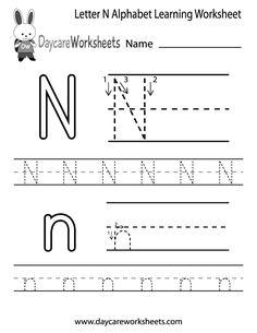 math worksheet : 1000 images about writing worksheets for pre k class on pinterest  : Letter N Worksheets Kindergarten