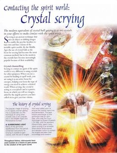 Crystals & Stones: Contacting the Spirit World: #Crystal Scrying.