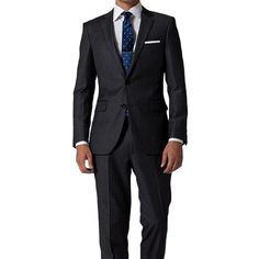 http://chicerman.com - Dark gray stripe tailored suit