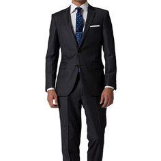 Dark Gray Stripe Suit