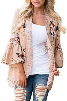 e683669dec Chiffon Shirt Floral Lace Blouse Women Summer Loose Hollow Printing Shirt  Plus Size Women Beach Casual Clothing