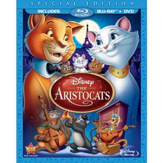The Aristocats (Two-Disc Blu-ray/DVD Special Edition in Blu-ray Packaging) (Walt Disney) Walt Disney, Disney Animation, Animation Movies, Disney Channel, Disney Aristocats, Pixar, Paul Winchell, Scatman Crothers, Disney Cartoons