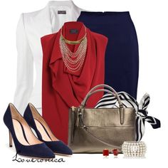 """Red, White & Blue"" by loveronica on Polyvore"