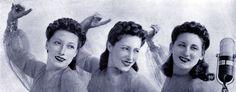 Alessandra, Giuditta and Caterinetta Lescano: Trio Lescano in 1942.